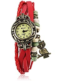 Naivo Women's Quartz Brass Plated Stainless Steel and Leather Casual Color:Red (Model: WATCH-1199)