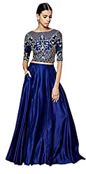 Everest Enterprise Women's Banglory & Net Lehenga Choli (Pink_CEL_PinkFree Size)