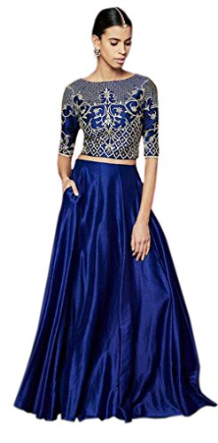 Everest Enterprise Women\'s Banglory & Net Lehenga Choli (Pink_CEL_PinkFree Size)