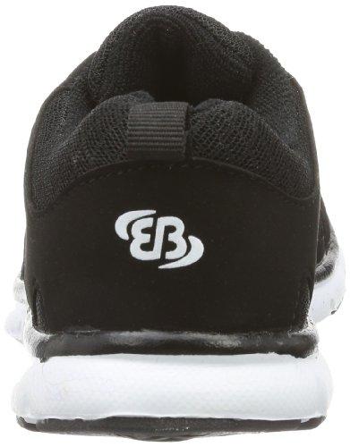 BruettingSpiridon Fit - Scarpe da corsa Bambino Nero (Black - Schwarz (schwarz/weiß))