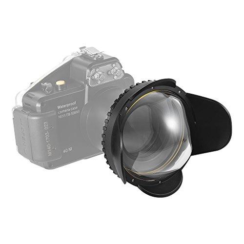 Andoer meikon Unterwasser Kamera 200mm Weitwinkel Objektiv Dome Port Fall Schatten, 60m/197FT Wasserdicht 67mm rund Adapter für Kamera Tauchen Gehäuse Fisheye-port