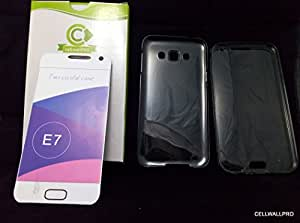 E7 case cover - Samsung galaxy e7 compatible front and back silicon soft case cover- By cellwallPRO brand- 360 protection for your Samsung galaxy E7 without increasing weight or change look of mobile. front back silicon case eliminate need of tempered glass- first time in India