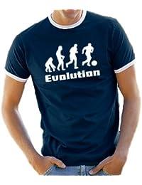 Touchlines Herren Evolution Fußball Ringer / Kontrast T-Shirt B5084