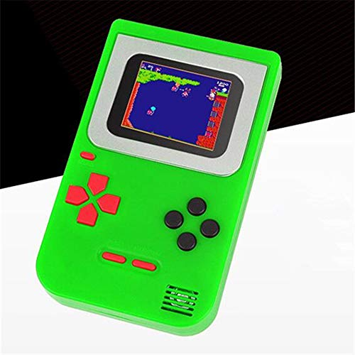PowerFul-LOT Gameboy Tragbare Spielekonsole 268 Klassische Spiele Geburtstagsgeschenke für Kinder Weihnachten Tetris Nicht teuer Zero Display Classic grün grün 14 * 10 * 4 cm