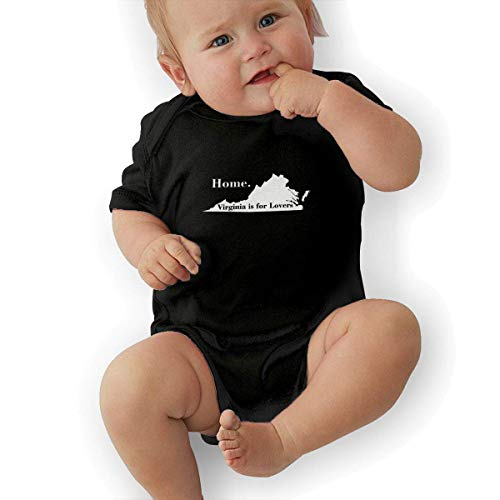 FAFANIQ Virginia is for Lovers Home State Edition Unisex Baby Short Sleeve Bodysuit-18M