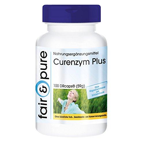 Enzym-Komplex mit zeitverzögerter Freisetzung - ohne Magnesiumstearat - 100 DRCaps - enthält Bromelain - Trypsin - Chymotrypsin und Rutosid (Rutin)
