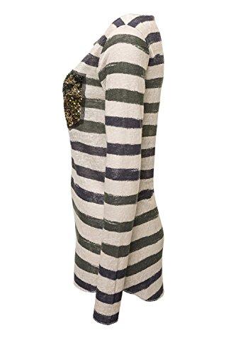 Key Largo Damen Langarmshirt Longsleeve Casual Used Look Sand