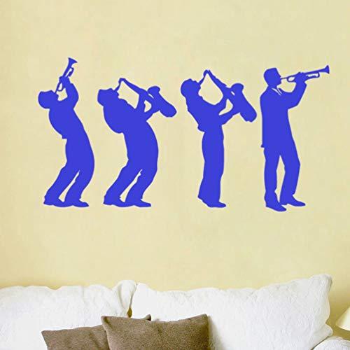 wandaufkleber 3d Wandtattoo Wohnzimmer Musiker Musikgruppe Art Design Jungen spielen Saxophon Wohnkultur für Musikzimmer Wohnzimmer