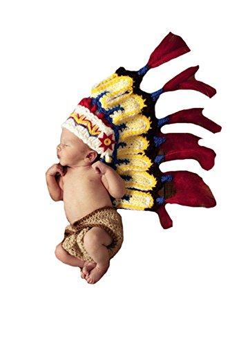 e Indische handgewebte Wollpullover Kleidung Neugeborene Baby-Foto-Stützen (Baby Indische Kostüme)