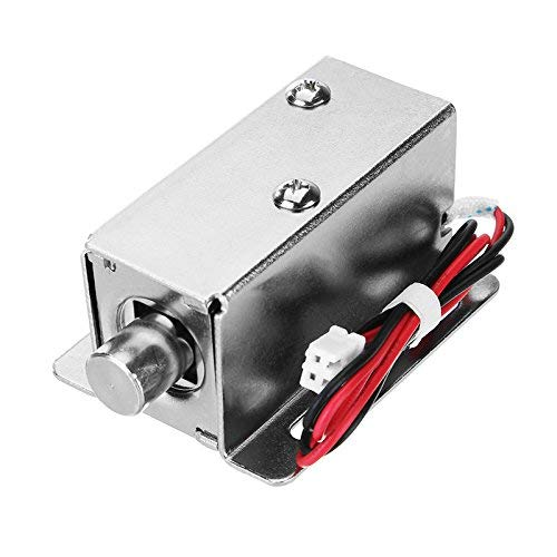 KUNSE 12V Dc 0.8A Electric Lock Assembly Solenoid Cylindrcal Cabinet Door Drawer Lock