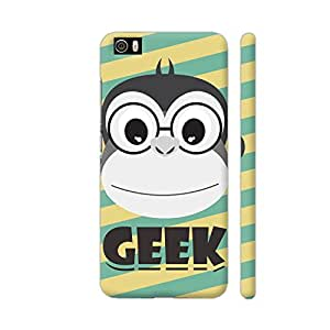 Colorpur Xiaomi Mi 5 Cover - Geek Monkey On Yellow Green Printed Back Case
