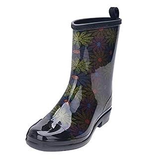 Makefortune 2019 Damen Sandalen, Frauen Punk Style Mid Boots Damen Rutschfeste Regenstiefel Outdoor Gummi Wasser Schuhe Gummistiefel Regenstiefel Naturkautschuk