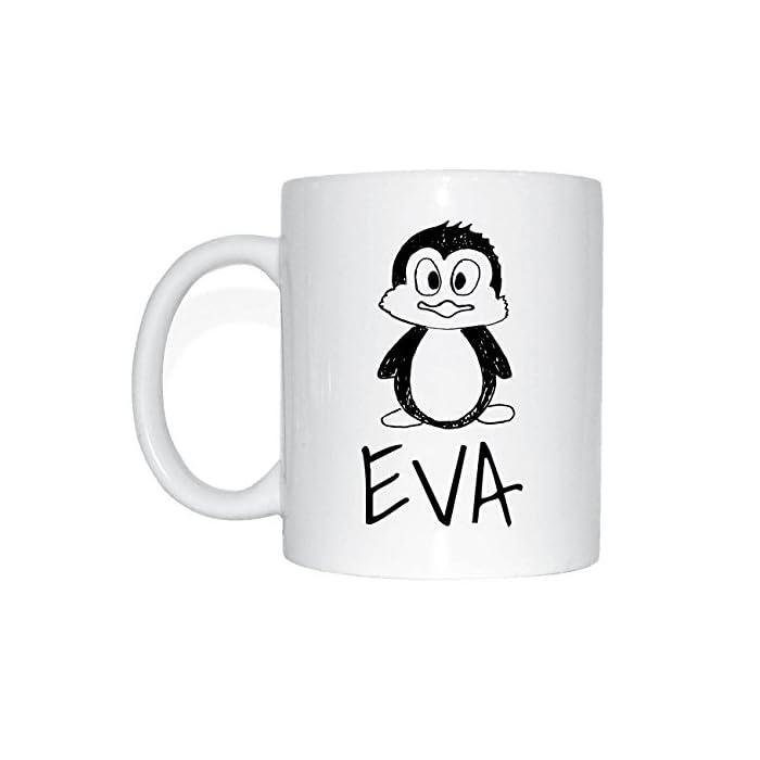 JOllipets EVA Namen Geschenk Kaffeetasse Tasse Becher Mug PM5335 - Farbe: weiss - Design: Bär