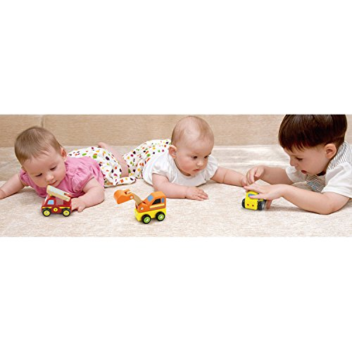 Viga Wooden 6 Piece Mini Vehicles - Childrens Push-Along Play Cars
