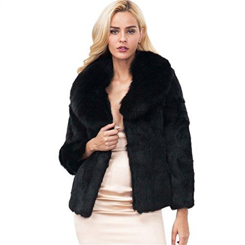 Longra Mujer Invierno Abrigo, Negro Prendas de Vestir Las Mujeres de otoño Invierno Elegante cálido...