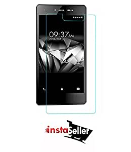 Insta Seller Anti Explosion Premium Tempered Glass , 9H Hardness, 2.5D Curved Edge, Ultra Clear, Anti-Scratch, Bubble Free, Anti-Fingerprints & Oil Stains Coating for Micromax Canvas 5