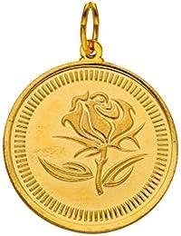 Sri Jagdamba Pearls22kt 2 Gram Flower Gold Coin cum Pendant