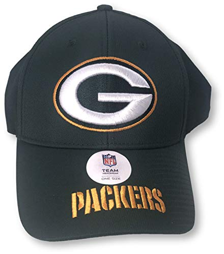 31e43577 NFL TEAM APPAREL Green Bay Packers Primary Logo Adult Adjustable Cap Hat