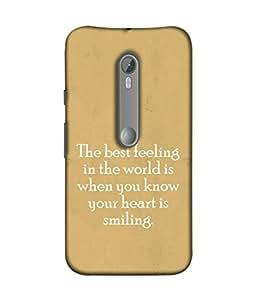 PrintVisa Designer Back Case Cover for Motorola Moto X Style :: Moto X Pure Edition (Spritual Motivation Word Theme Atitude Smile)