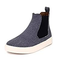 Guava Canvas Chelsea Boots - Black