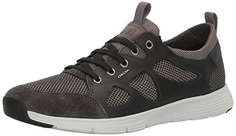 Geox Herren U Snapish B Sneakers, Schwarz (Anthracite/BLACKC9211), 44 EU