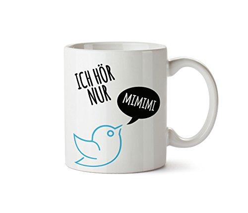 True Statements TasseIch hör nur mimimi - Kaffeetasse, Kaffeebecher, das ideale Geschenk für...