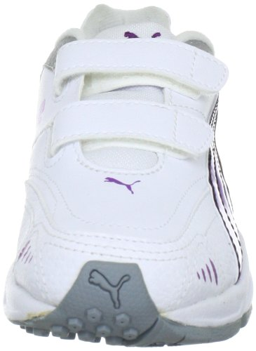 Puma Xenon Trainer V Jr, Chaussures de running entrainement Blanc - Weiß (white-bright violet-black-silver metallic 08)