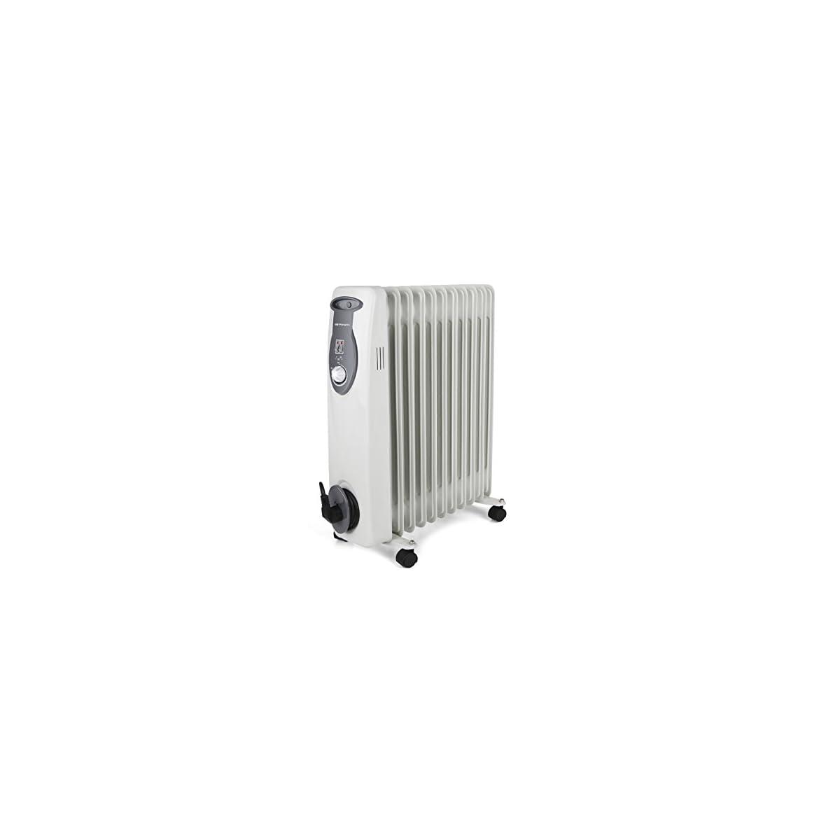 41YukP0rRtL. SS1200  - Orbegozo RA E Radiador de aceite, 2500 W de potencia, construcción modular de 11 elementos y diseño en color blanco