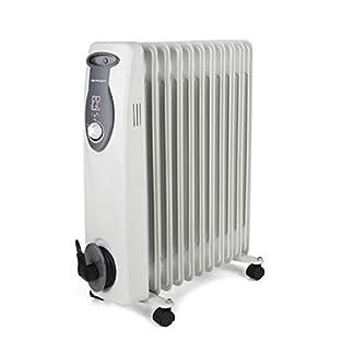 Orbegozo RA E Radiador de aceite, 2500 W de potencia, construcción modular de 11 elementos y diseño en color blanco