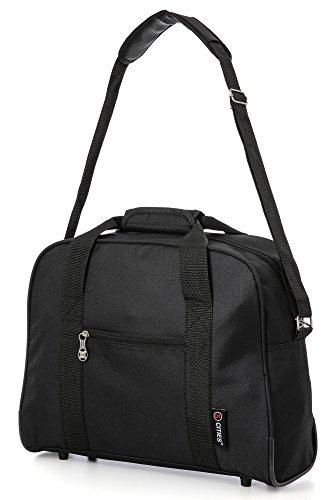 British Airways Maximal-Größe Zweites Tache Handgepäck Handreisegepäck Reisetasche (Schwarz) 4 x Schwarz