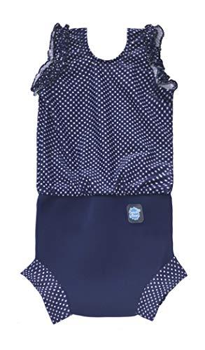 Splash About CHNNDS - Traje de baño para bebé niña, Color Azul/Blanco, 0-4 Meses