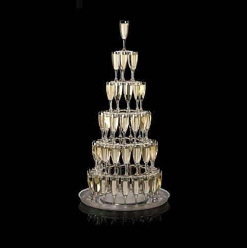 Visiodirect Cascade pour 75 flûtes à Champagne - 5 disques