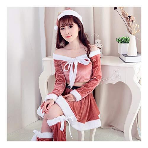 SDLRYF Weihnachtsmann Kostüm Rosa Santa Claus Kostüm/Weihnachten Kostüm Erwachsene Weihnachten Rollenspiel Kostüm (Rosa Santa Kostüme)