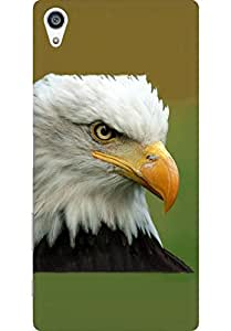 AMEZ designer printed 3d premium high quality back case cover for Sony Xperia Z5 Plus (Bald eagle head)
