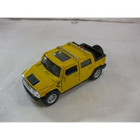2005 Hummer H2 SUT In Yellow Diecast 1:40 Scale By Kinsmart by diecast 140 scale