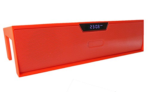 Emartbuy ® Rot SoundBox Portable Wireless Bluetooth Lautsprecher Mit Mikrofon Geeignet Für Omega Sirius Windows Tablet 10.1 Zoll Sirius Wireless Lautsprecher
