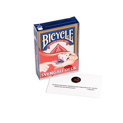 Madus-Magic Mit Deutscher Video-Anleitung: Das Svengali Deck von Bicycle - geniale Kartentricks ohne Fingerfertigkeit by