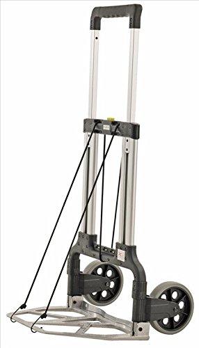 Profi Sackkarre klappbar aus Alu, mit Vollgummi-Reifen, 125 kg Tragfähigkeit, 480x300 mm Ladefläche, für Getränkekisten, Gepäck und mehr