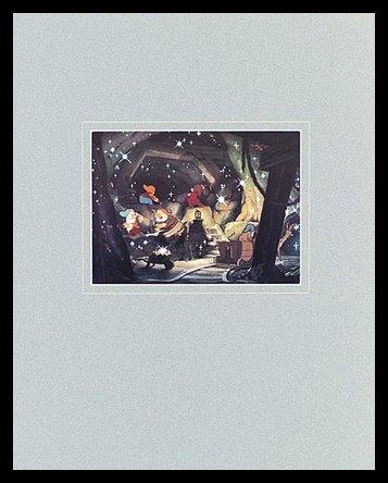 Germanposters Walt Disney (Snow White and The Seven Dwarfs) The Dwarfs' Mine Poster Bild Kunstdruck im Alu Rahmen in schwarz 40x50cm (Snow White Bilderrahmen)