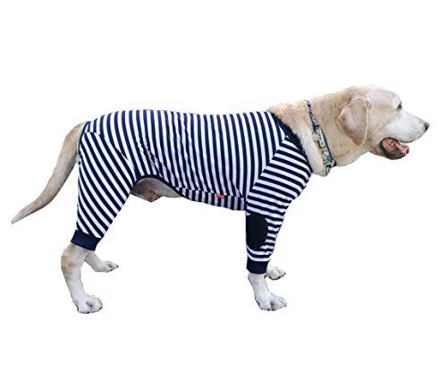 für große Hunde, flexibel, atmungsaktiv, Reißverschluss, weiche Baumwolle, gestreift, für mittelgroße Hunde und große Hunde ()
