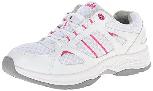 Propet Tasha Schmal Leder Tennisschuh White/Pink