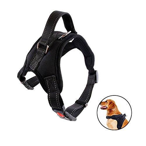 Bello Luna Hundegeschirr Verstellbare Refletive Dog Weste Harness mit Griff und gepolsterten Sattel Style-Black/L -
