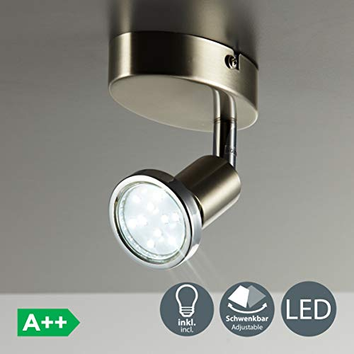 Lámpara de techo y pared, Foco orientable y giratorio incl. 1x3W LED...