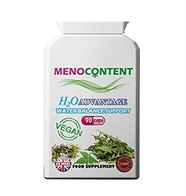 Menopause Water Retention Relief with Dandelion, Nettle, Juniper Berry. Herbal Diuretic Support for Puffiness and Swelling Relief. 90 capsules from Menocontent