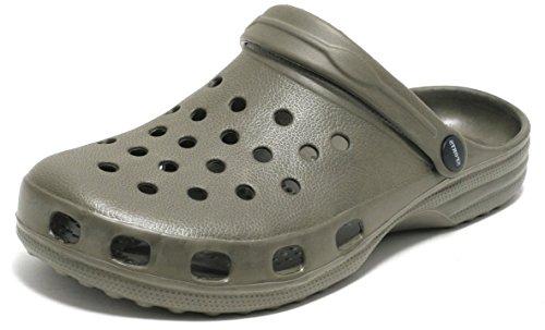 Herren Clogs Gartenclogs Gr. 42 Sandalen Pantoletten Hausschuhe Slipper Schuhe Gartenschuhe Badeschuhe grün