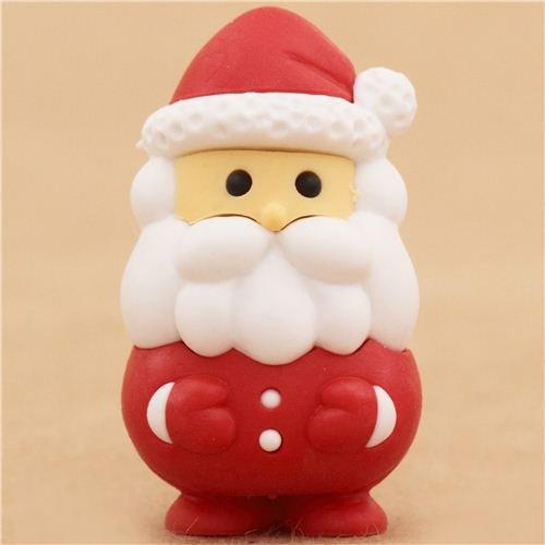 roter Weihnachtsmann Weihnachten Radiergummi von Iwako aus Japan