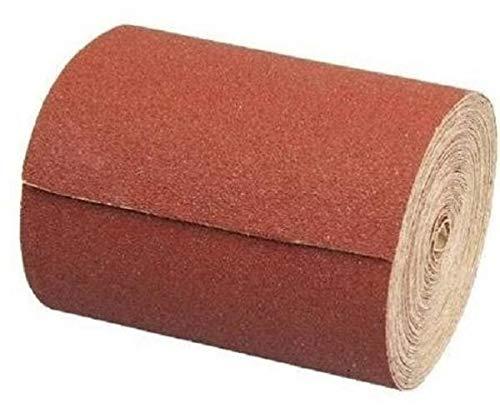 Schleifpapierrolle 115 mm x 10 m | Korn 80 | Schleifrolle Schleifpapier Aluminiumoxid Rolle