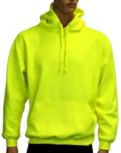 Coole-Fun-T-Shirts Herren Neon Sweatshirt mit Kapuze floureszierend, neongelb, L, 10811_neongelb_GR.L