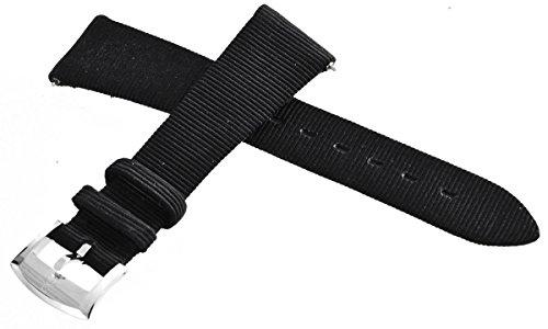 Bertolucci Damen Uhrenarmband schwarz Stoff 18mm