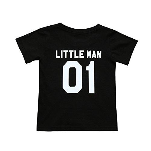 Storerine Familien-neugeborenes Baby-Mädchen-Kurzarm T-Shirt Outfits-Kleidung Familie Frauen Herren Sommer Rundhals Brief Druck Kurzarm Bluse ()